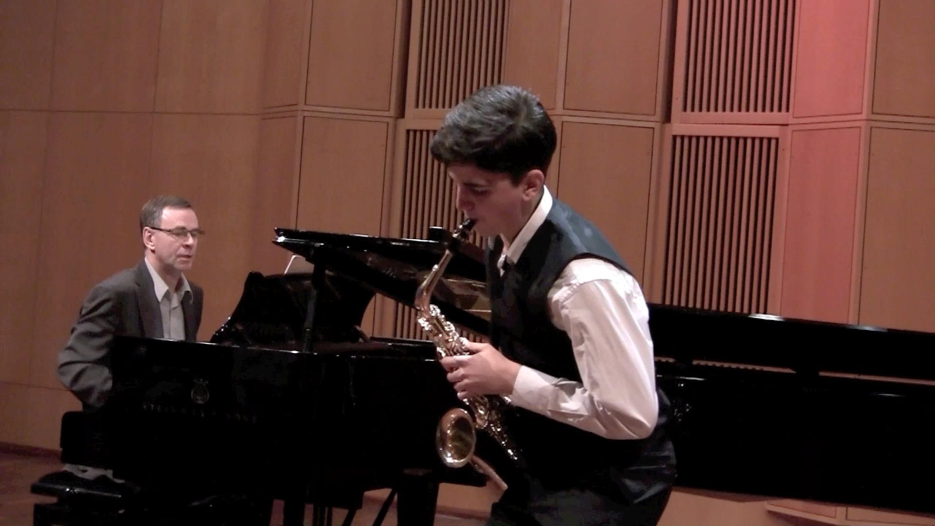Concertino da Camera 2.sats, av Jaques Ibert, nov. 2012, pianist: Per Arne Frantzen
